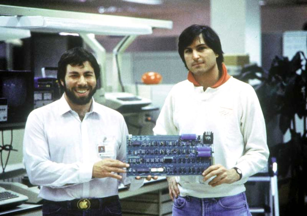 "Steve Wozniak, Steve Jobs, and their Apple I. Our condolences to friends and family. Words cannot express their impact. ""Stay Hungry. Stay Foolish."" Thank you."